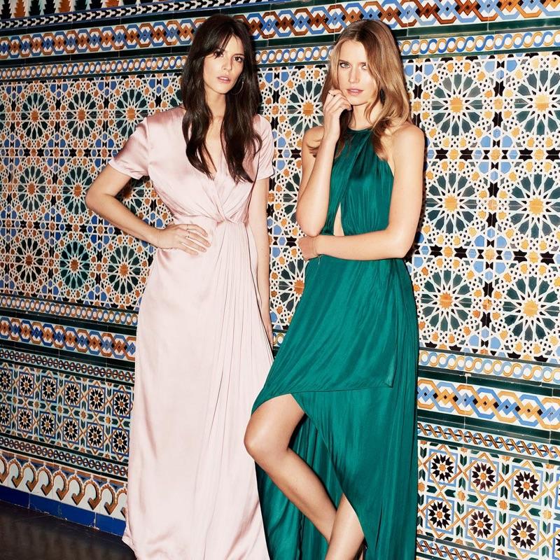 (Left) H&M Wrap-Front Dress (Right) H&M Long Satin Dress