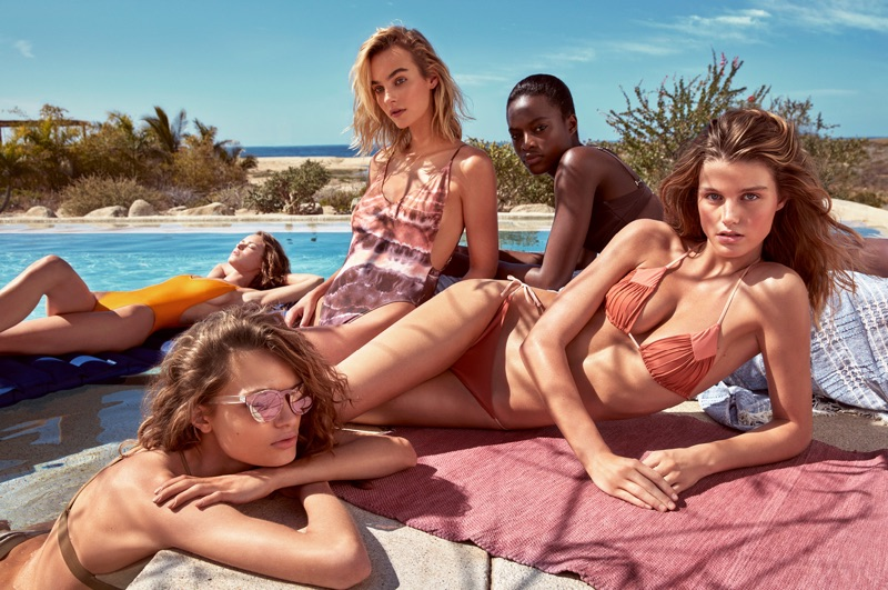 Anna Mila Guyenz, Birgit Kos, Luna Bijl, Maartje Verhoef and Mayowa Nicholas star in H&M's Summer 2017 campaign