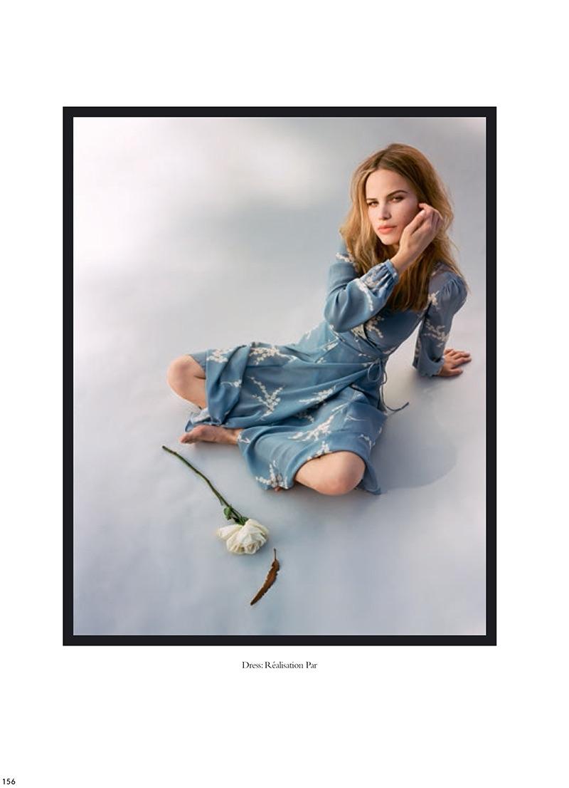 Halston Sage wears Réalisation Par printed dress