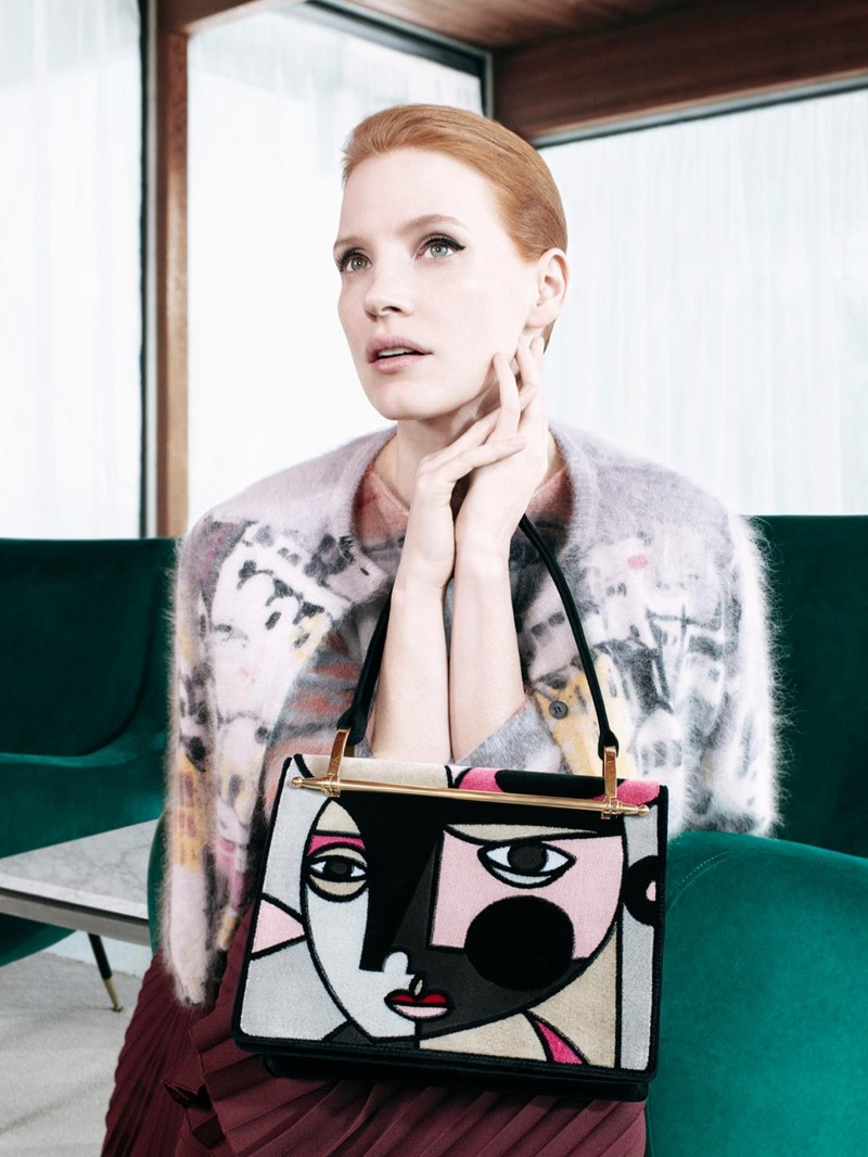Jessica Chastain Stars in Prada's Pre-Fall 2017 Accessories Campaign