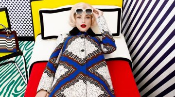 Jessica Stam Transforms Into Pop Art for Harper's Bazaar