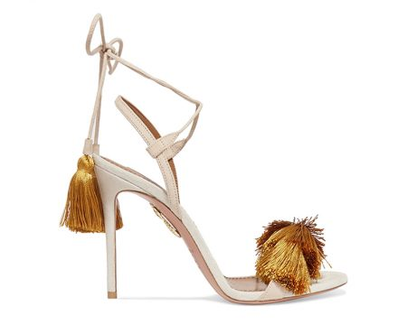 New Arrivals: Johanna Ortiz & Aquazzura's Embellished Shoe Collection