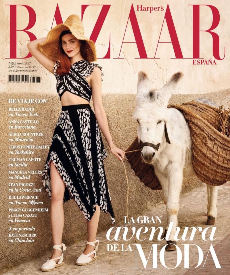Kati Nescher on Harper's Bazaar Spain June 2017 Cover