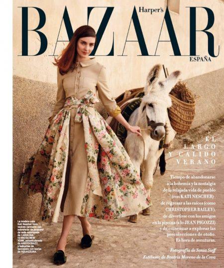 Kati Nescher Wears Sunny Looks for Harper's Bazaar Spain