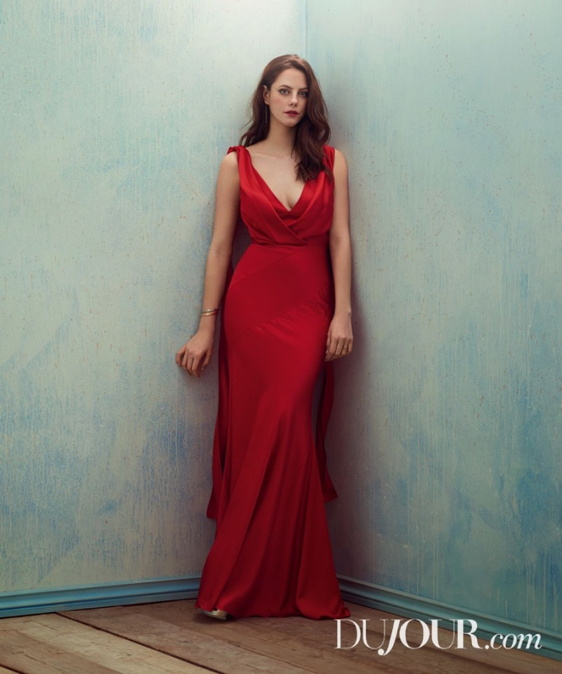 Kaya Scodelario Poses in Gorgeous Gowns for DuJour Magazine