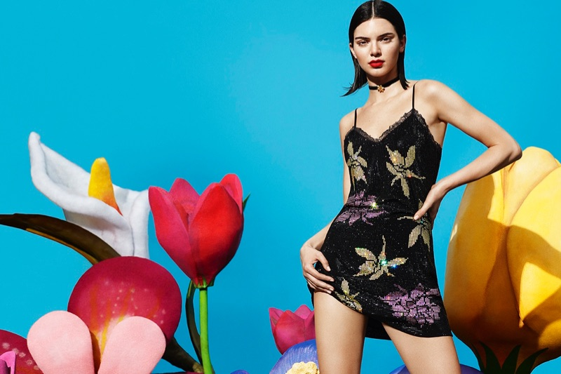 An image from La Perla's pre-fall 2017 advertising campaign starring Kendall Jenner