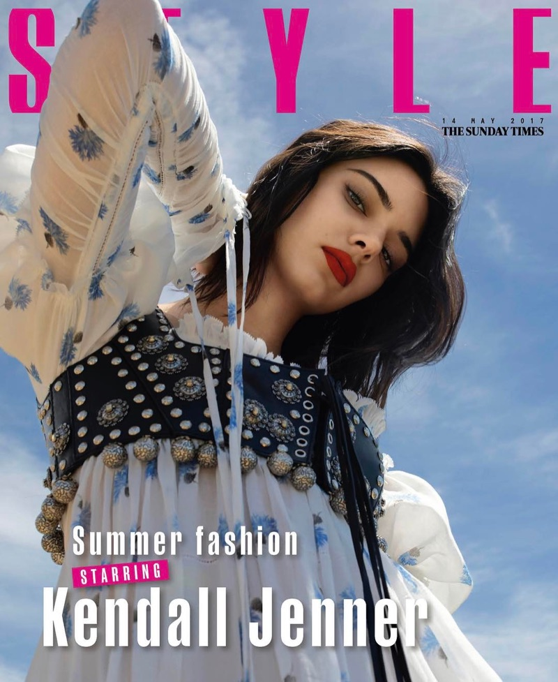 Kendall Jenner on The Sunday Times Style May 14th, 2017 Cover