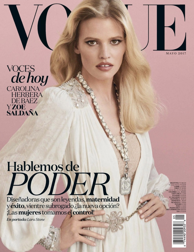 Lara Stone on Vogue Mexico May 2017 Cover