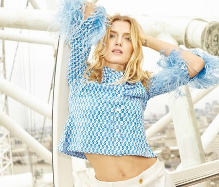 Lily Donaldson Wears the Spring Collections in ELLE China