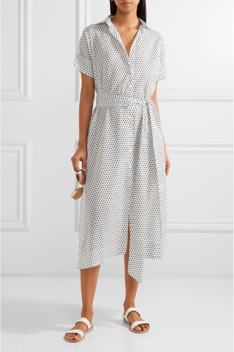Lisa Marie Fernandez Polka-Dot Cotton Voile Midi Dress $595, available at Net-a-Porter
