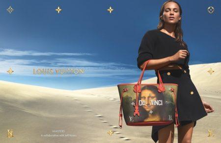 Alicia Vikander stars in Louis Vuitton x Jeff Koons handbag campaign