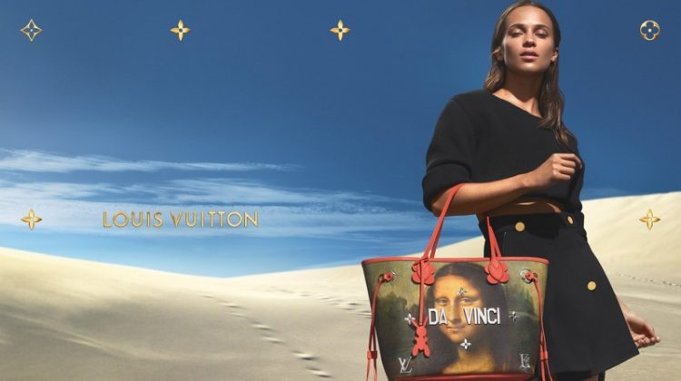 Alicia Vikander stars in Louis Vuitton x Jeff Koons handbag campaign