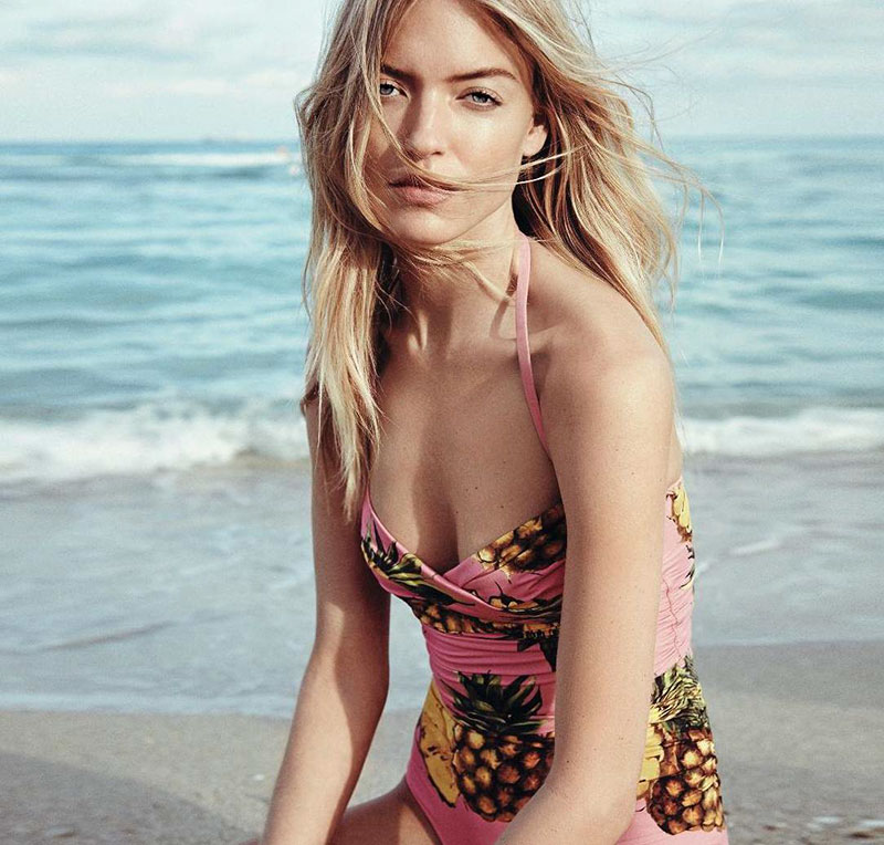 Martha Hunt Chases the Sun in Harper's Bazaar Germany