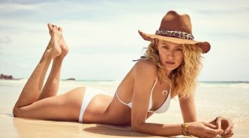 Michelle Buswell Hits the Beach in Calzedonia Swimwear for Vogue Spain