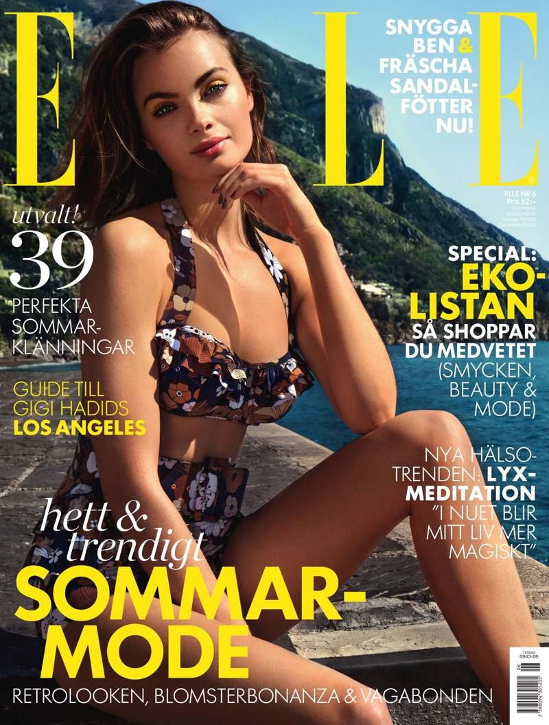 Moa Aberg on ELLE Sweden June 2017 Cover