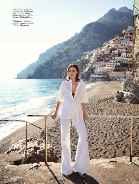 Moa Åberg Poses in Chic Beach Style for ELLE Sweden