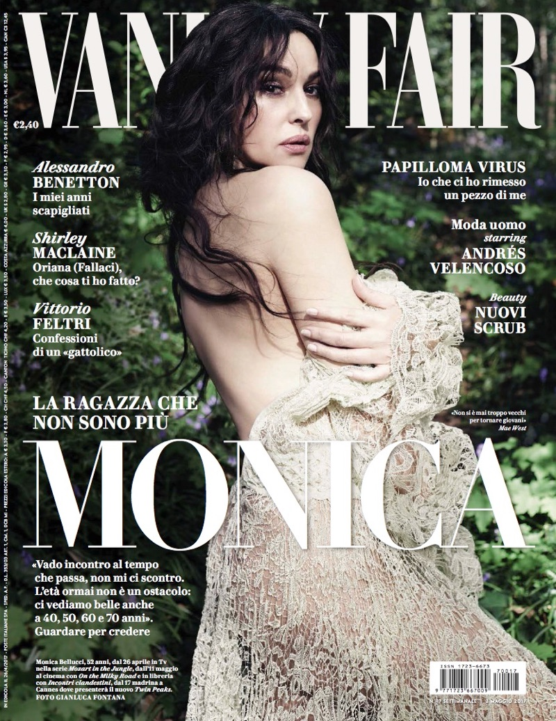 Monica Bellucci on Vanity Fair Italy May 2017 Cover