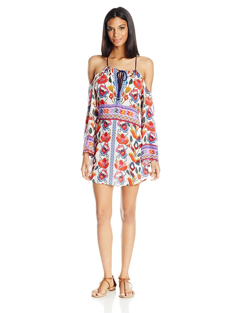 Nanette Lepore Antigua Cold Shoulder Peasant Tunic Cover Up $148, available at Amazon