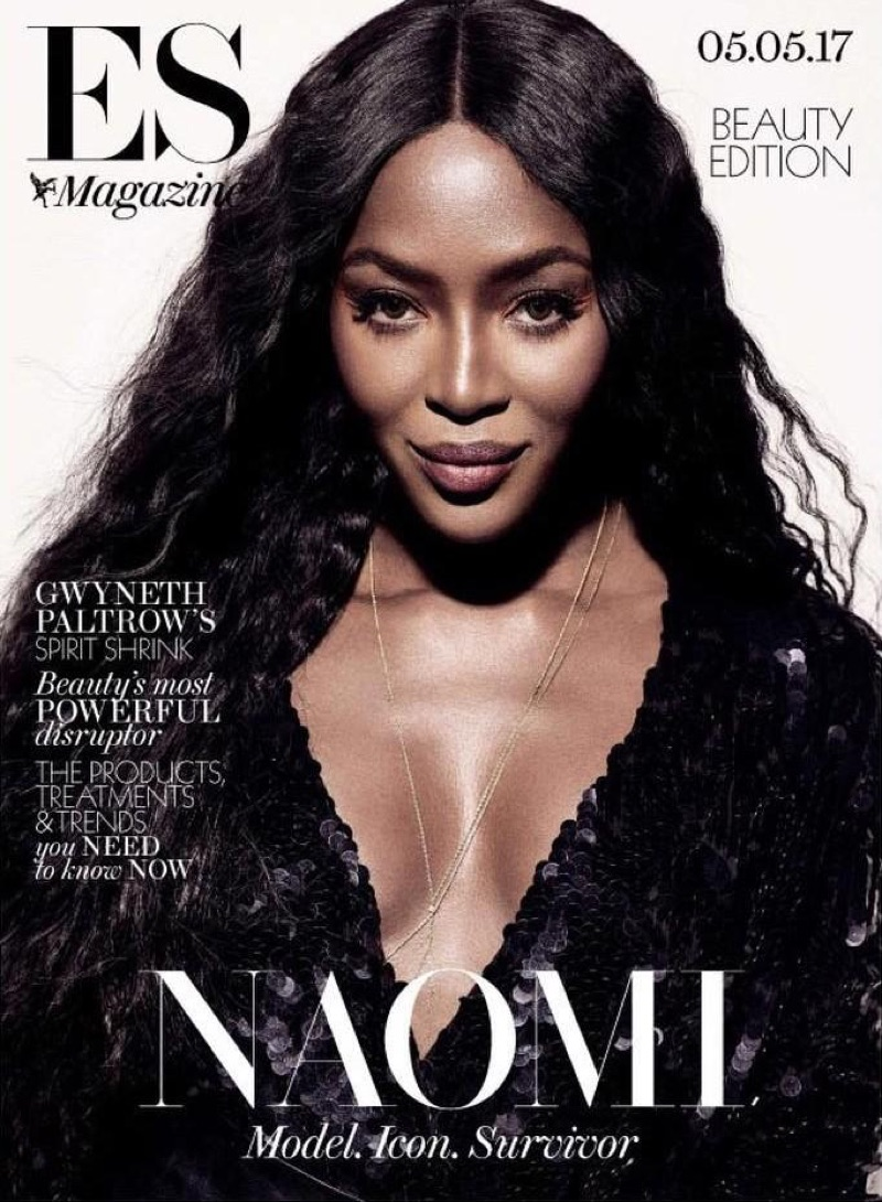 Naomi Campbell on Evening Standard Magazine May 5th, 2017 Cover
