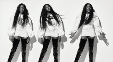 Naomi Campbell Turns Up the Glam Factor in Evening Standard Magazine
