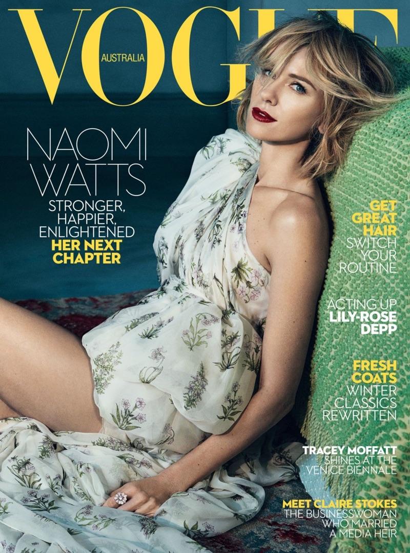 Naomi Watts on Vogue Australia June 2017 Cover
