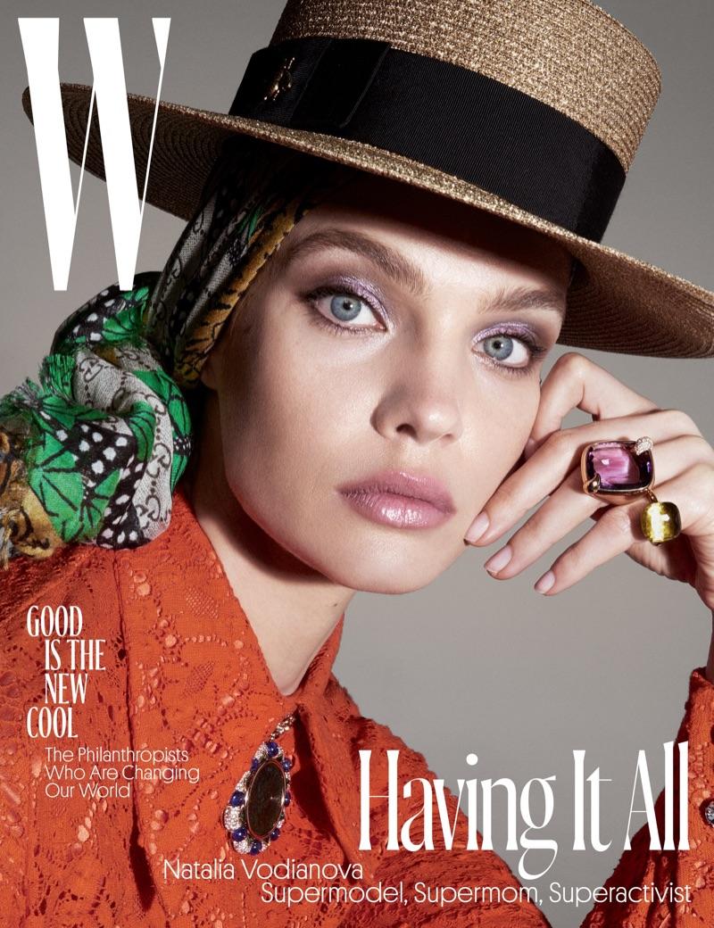 Natalia Vodianova on W Magazine June/July 2017 Cover