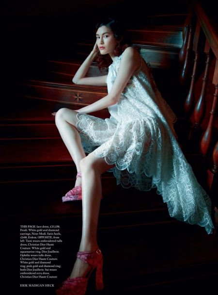 Ophelie, Sui & Tami Are Ethereal Visions for Harper's Bazaar UK