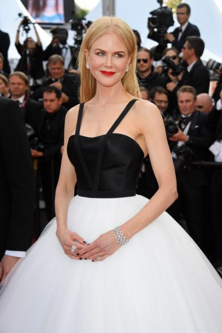 """Nicole Kidman wears a Calvin Klein by Appointment dress with tulle skirt at Cannes """"The Killing Of A Sacred Deer"""" screening. Photo: Venturelli/WireImage"""