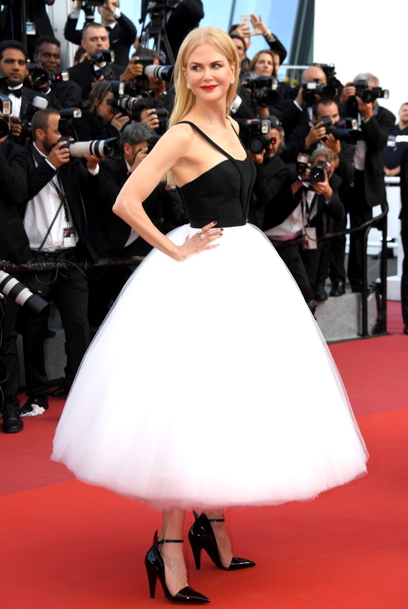 Actress Nicole Kidman poses in Calvin Klein by Appointment dress at 70th Annual Cannes Film Festival. Photo: Dominique Charriau/WireImage