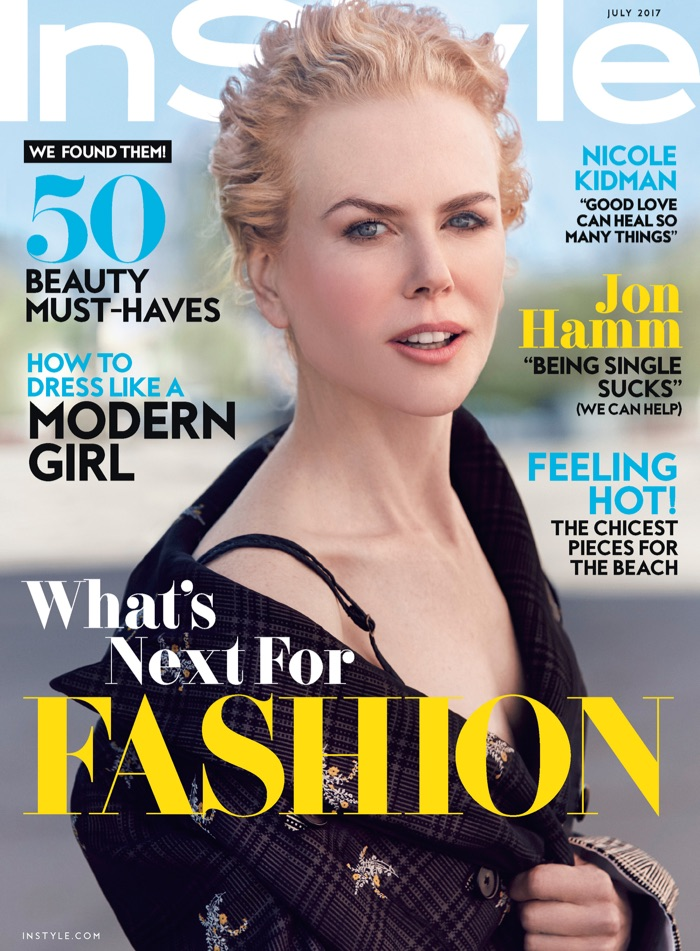 Nicole Kidman on InStyle Magazine July 2017 Cover