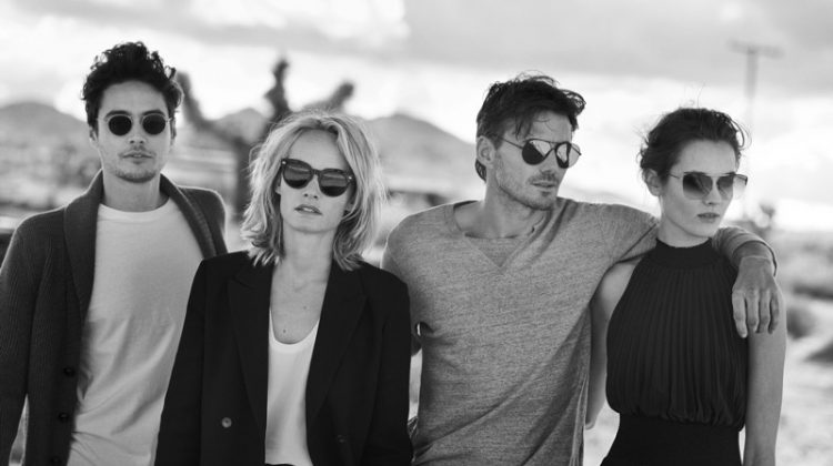 Amber Valletta, Jac Jagaciak, Alex Lundqvist and Levi Dylan star in Oliver Peoples 30th anniversary campaign