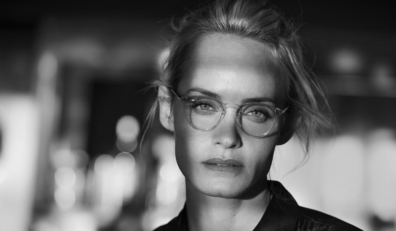 Getting her closeup, Amber Valletta stars in Oliver Peoples' 30th anniversary campaign