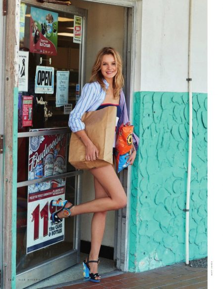 Paige Reifler Wears Summer Stripes for ELLE Italy Cover Story