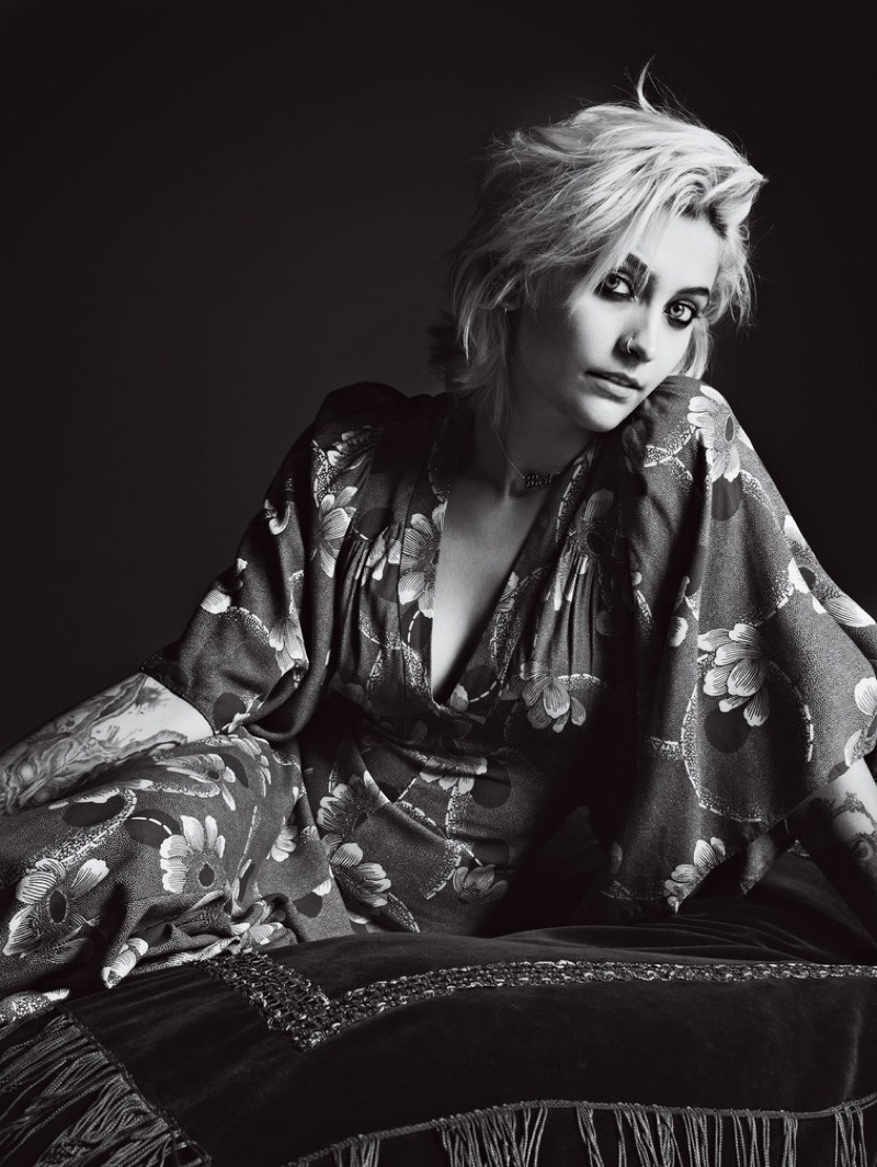 Michael Jackson's daughter, Paris Jackson, poses in vintage Biba dress with floral print