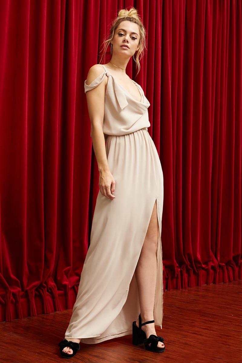 Pretty by Rory Cowl Neck Maxi Dress $68.00