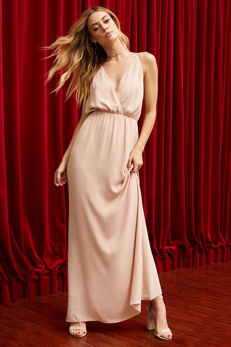 Pretty by Rory Surplice Cami Dress in Blush $68.00