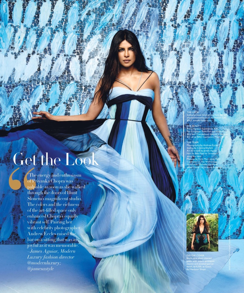 Dressed in blue, Priyanka Chopra wears Elizabeth Kennedy gown