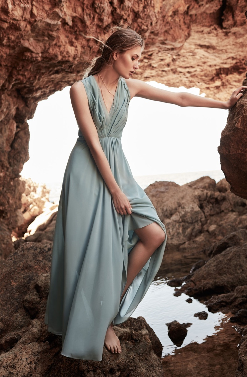 REISS Evie Low-Back Maxi Dress $425