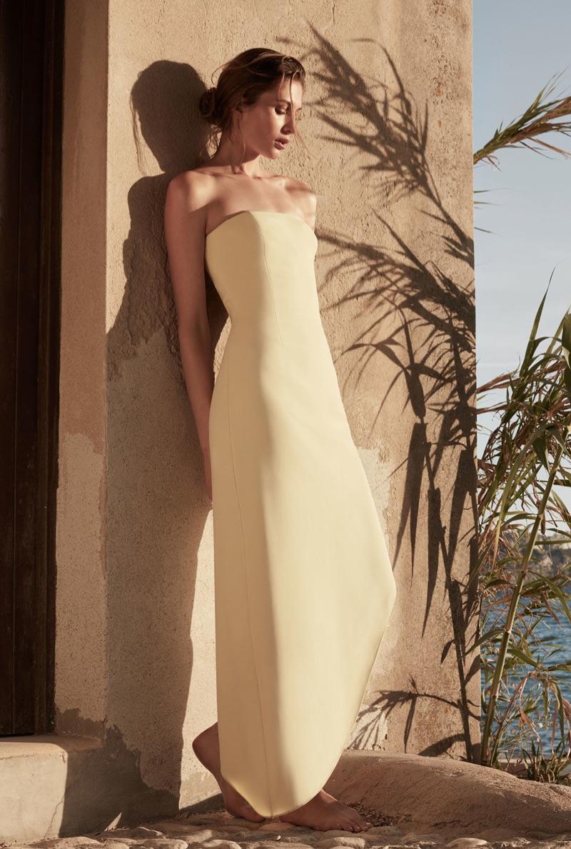 REISS Rima Strapless Asymmetric Maxi Dress $360