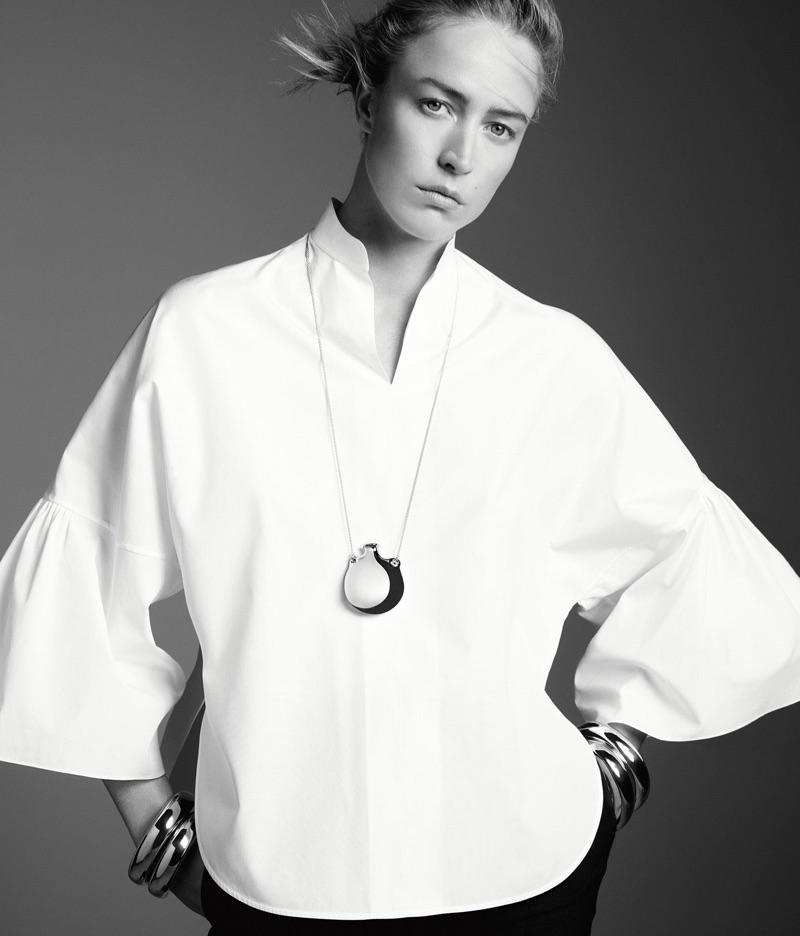 Raquel Zimmermann models Tiffany & Co. Doughnut bangle