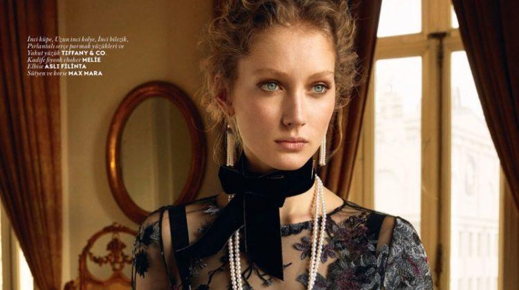 Sandra Martens Models Elegant Gems in Vogue Turkey