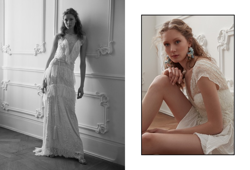 Looking like a blushing bride, Sandra Martens poses in Vogue Turkey