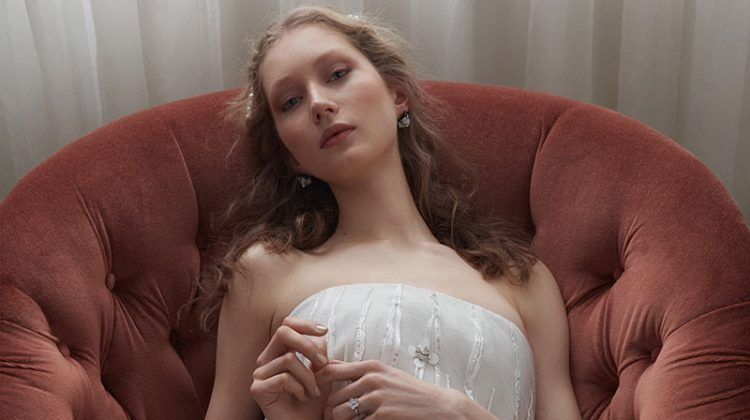 Sandra Martens Poses in Dreamy Wedding Dresses for Vogue Turkey