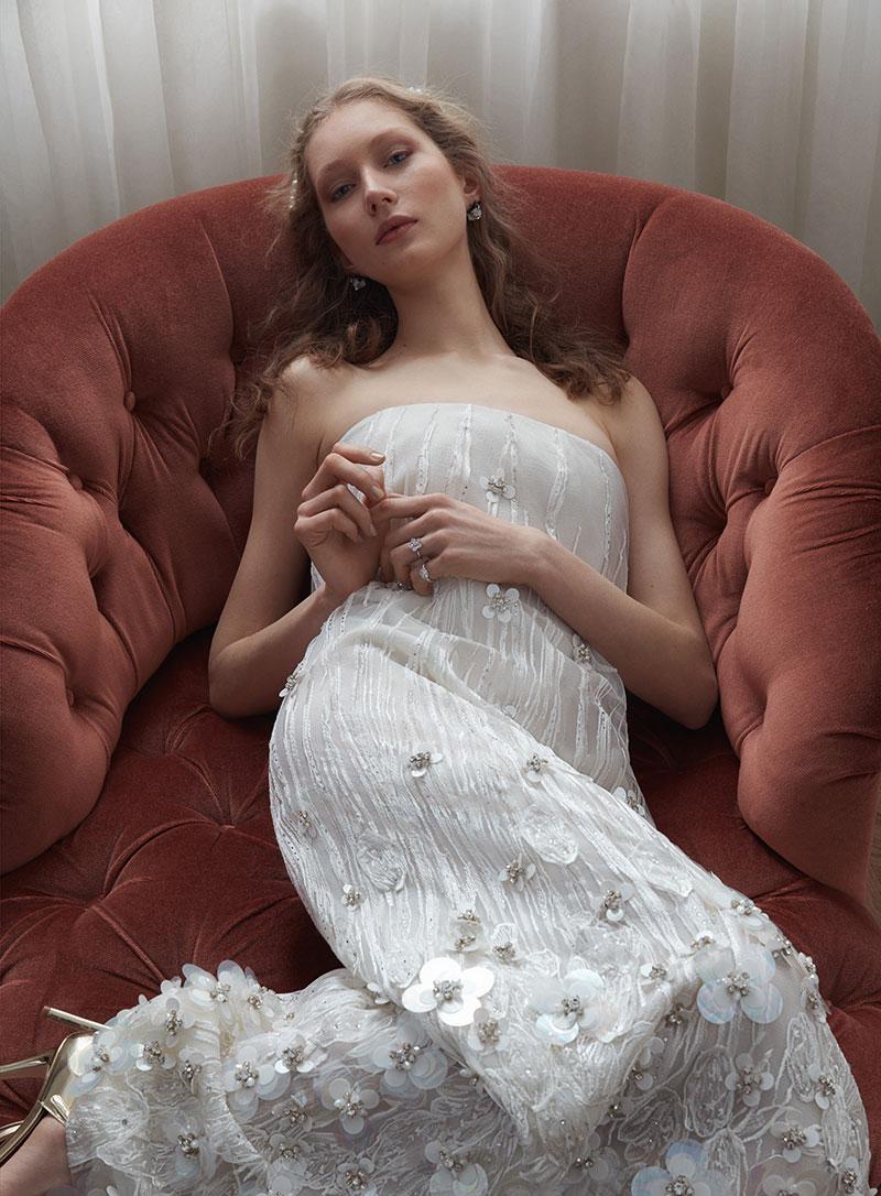 Sandra Martens Poses in Dreamy Wedding Dresses for Vogue Turkey