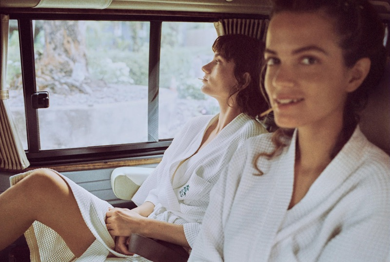 Say Lou Lou duo, Miranda and Elektra Kilbey-Jansson, pose in Mango Journeys campaign