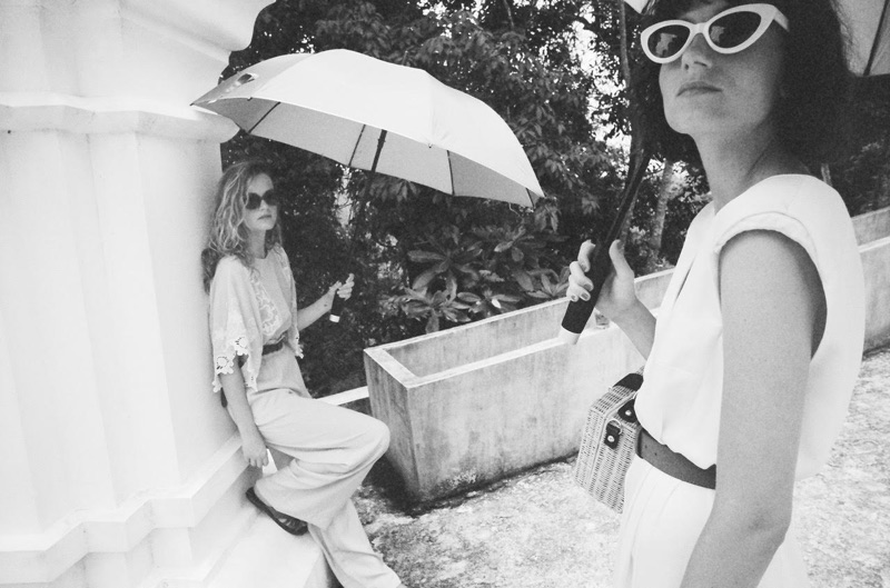 Mango Journeys feature pale looks worn by pop-electro duo Say Lou Lou
