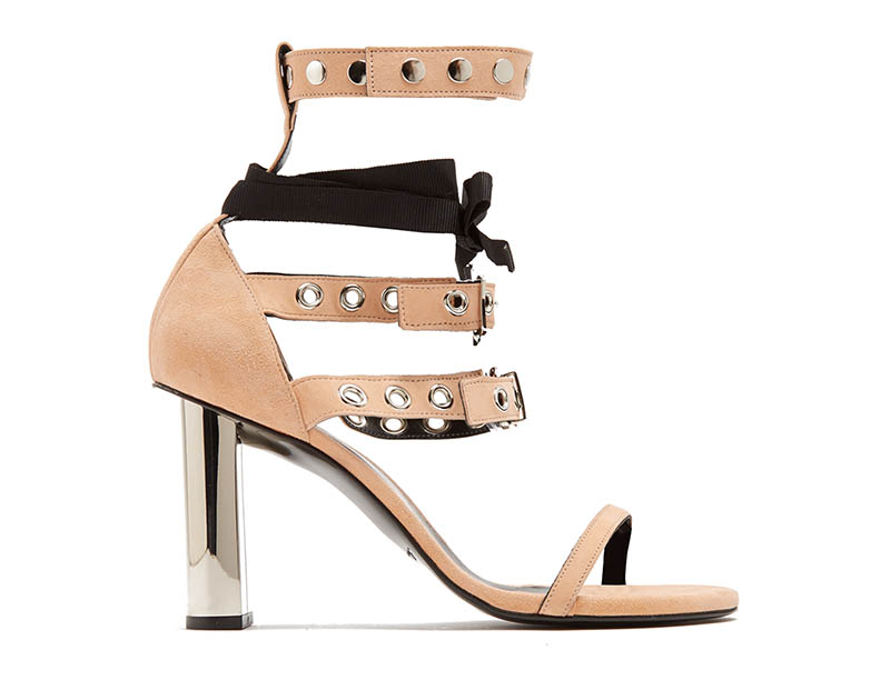 Self-Portrait x Robert Clergerie Leyla Suede Sandals Pink/Beige $675