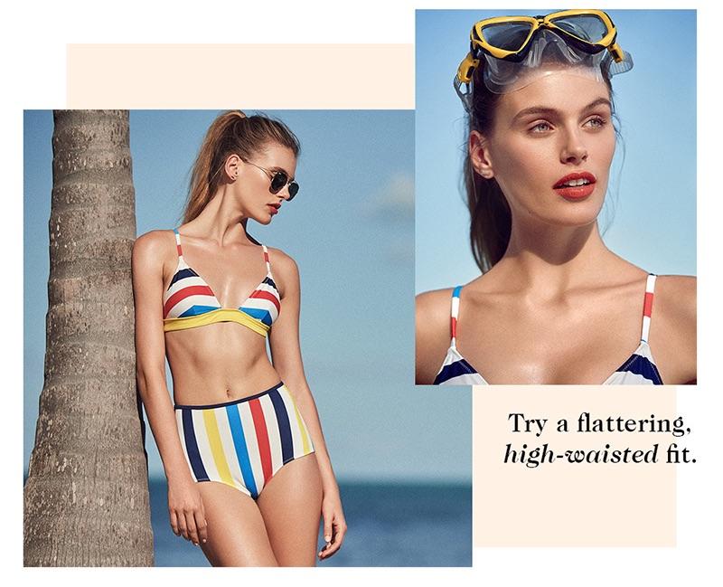 Ray-Ban Square Aviator Sunglasses. Solid & Striped The Morgan Bikini Top and The Brigitte Bikini Bottoms.