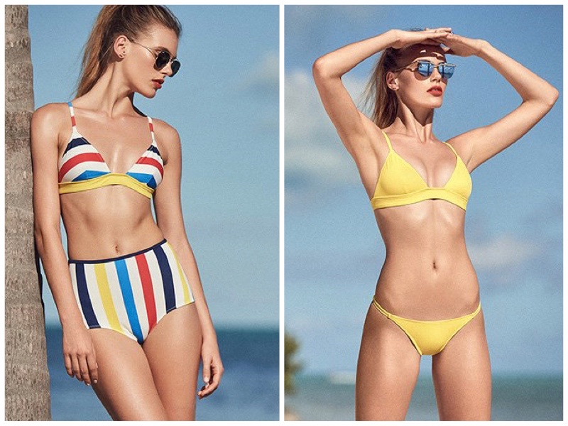 Fun in the Sun: 4 Solid & Striped Swimsuit Styles