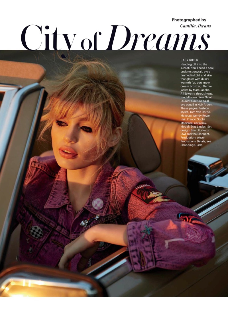 Staz Lindes stars in Allure Magazine's May issue
